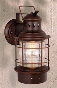 For carport & front porch --- Vaxcel OW37081TB Nautical Outdoor Sconce