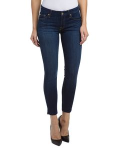 7 For All Mankind Kimmie Dark Wash Cropped is on Rue. Shop it now.