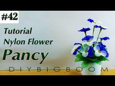 Nylon stocking flowers tutorial #42, How to make nylon stocking flower step by step - YouTube