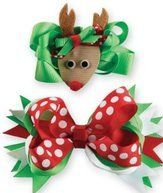 diy christmas hairbows | Boutique Hair Bows For Little Girls - How To Make Hair Bows