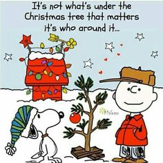 It's not what's under the tree quotes quote charlie brown snoopy christmas christmas quotes Peanuts Christmas, Noel Christmas, Little Christmas, Winter Christmas, Christmas Crafts, Christmas Cartoons, Christmas Sayings, Christmas Poster, Christmas Pictures