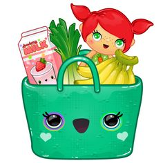 A Toca Store shopping bag full with goodies. App by Toca Boca. http://itunes.apple.com/us/app/toca-store/id442705759?mt=8