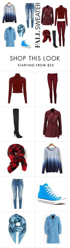 """Fall Sweaters"" by kitty1cat1power1girl on Polyvore featuring A.L.C., Hudson, Proenza Schouler, Old Navy, Ted Baker, Converse, Loewe and J.Crew"