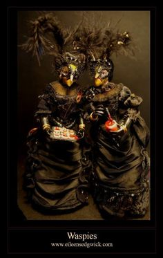 Number 10 in Oct 2012: the witches page. (The Waspies by Eileen Sedgwick  by MTW Photos, via Flickr) Witch Cottage, Witch House, Halloween Miniatures, Dollhouse Miniatures, Witch Wallpaper, Potion Labels, Harry Potter Wizard, Witch Makeup, Witch Broom