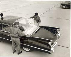 1959 Cadillac Landau Limousine Removing the plexiglass canopy