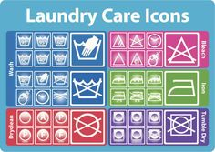 How to decipher laundry care symbols on labels. Learn symbols for how to wash, how to dry, how to iron, how to bleach and how to dry clean clothes.