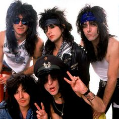 Guns is the name of two glam metal groups from Los Angeles, California. One group is led by Guitarist Tracii Guns while the other version is led by Glam Metal, Big Hair Bands, Hair Metal Bands, Metal Hair, Hard Rock, The Hollywood Vampires, Rock Videos, Guns, Rock N Roll Music