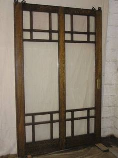 Arts and Crafts Pocket Door - $1,125 - Painted on one side !?!?!? stupid people!