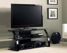 Nowoczesny stolik RTV czarny PVS4206HG ALVO - Oświetlenie, Led-Handel. Oszczędzaj codziennie z technologią LED