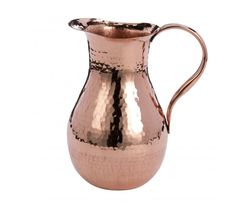 A hand hammered copper pitcher is a challenge for any experienced coppersmith to construct. The finish result is spectacular and will set the stage of your home or restaurant serving tables with a splash of design and craftsmanship. Copper Pots, Hammered Copper, Copper Decor, Serving Table, Fake Flowers, Beautiful Hands, Cookware, Stage, Tables