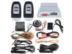 Top quality PKE car alarm with auto start push start button password access & chip immobilizer bypass include hopping code