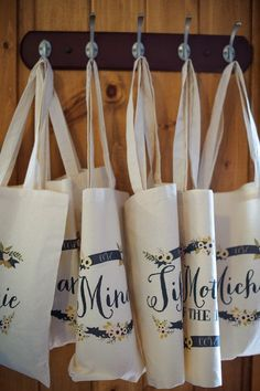 personalized totes as bridesmaids gifts
