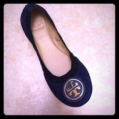 New Tory Burch Caroline 2 Soho Lux 8.5 Brand New Navy Blue Suede Caroline Flats Size 8.5. Tory Burch Shoes