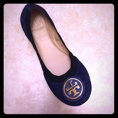 New Tory Burch Caroline 2 Soho Lux 8.5 Brand New Navy Blue Suede Caroline Flats Size 8.5. Tory Burch Shoes