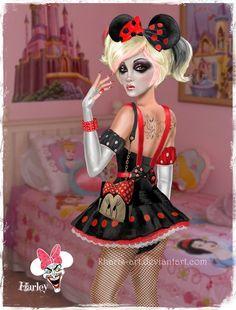 Harley Quinn - Disney Diva by kharis-art.deviantart.com on @deviantART
