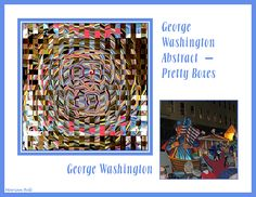 "The abstract design seen here was created from the accompanying George Washington float image which was part of the Crewe of Columbus Mardi Gras parade of 2013 in Mobile, Alabama. Both of these images are sold individually from my Mardi Gras gallery, as ""George Washington"" and ""Abstract -- Pretty Boxes"". Find this image and more for sale at  marian-bell.pixels.com  and  marian-bell.fineartamerica.com  More items for sale at zazzle.com/marianbellbellaspix*artistrising.com/galleries/marianbell"