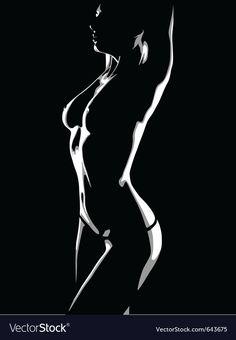 Girl dances a striptease Royalty Free Vector Image Figure Painting, Body Painting, Beret Rouge, Spray Paint Stencils, Shadow Art, Woman Silhouette, Digital Portrait, Art For Art Sake, Girl Dancing