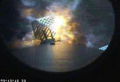 Udany start, nieudane lądowanie rakiety Falcon 9.   http://truerockets.pl/post/110817392099/udany-start-nie-udane-ladowanie-falcon-9-udalo