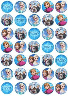 Disney Princess Crafts, Disney Princess Frozen, Frozen Movie, Olaf Frozen, Elsa Birthday Party, Frozen Birthday Party, Halloween Birthday, Frozen Party, Frozen Cupcake Toppers