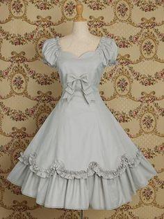 Light Blue Cotton Classic Lolita Dress