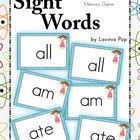 Sight Words - Memory Game (Primer Words)     A cute game to keep learning fun. I have also included a back-of-card label that you can print onto the ...