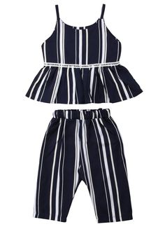 Toddler Girl Stripe Peplum Outfit Set – The Trendy Toddlers Toddler Girl Style, Toddler Girl Outfits, Baby Girl Dresses, Baby Dress, Toddler Girls, Baby Girls, Baby Boy, Fashion Kids, Toddler Fashion