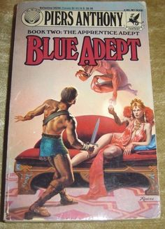 Apprentice Adept Book 2 Blue Adept by Piers Anthony 1991 Paperback
