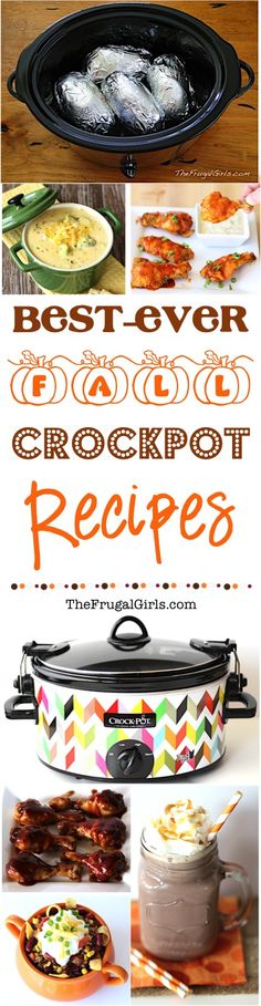 Fall Crockpot Recipes! ~ from TheFrugalGirls.com ~ go grab your Slow Cooker and get ready for the Best Ever Fall Crock Pot Recipes... perfect for a cozy dinner, football parties, and fabulous desserts!
