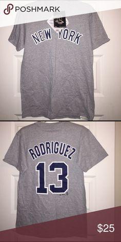 ***NWT*** New York Yankees Rodriguez Tee Size S.  ***NWT*** Mew York Yankees Alex Rodriguez Official Licensed Tee Shirt MLB Merchandise Shirts Tees - Short Sleeve