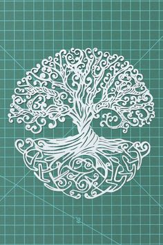 "Celtic Tree Of Life papercut decor - 8""x10"" Celtic Tree Of Life original papercutting artwork, tapestries, tattoos style, paper-art"