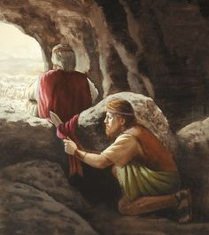 David Cuts Off The Edge Of Sauls Sleeveless