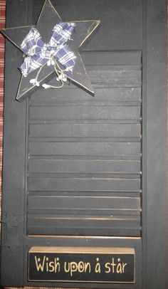 Small Wooden Shutter Upcycled to Primitive  Home by CBEUsedBlues