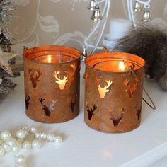 Rustic Stag Candle Jars