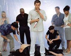 Dexter...my current obsession.  Love the writing, love the characters, love the actors, love.......