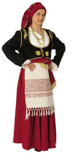 Traditional festive costume from Crete. This is a workshop-made ensemble, as worn by folk dance groups. Mexican Costume, Folk Costume, Greek Traditional Dress, Traditional Outfits, Greek Dancing, Grecian Dress, Costumes Around The World, Culture Clothing, Beautiful Costumes
