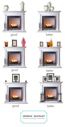 Arranging your mantlepiece