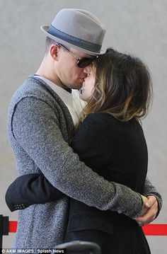 another adorable picture of the cuddly couple, Channing and Jenna Tatum.