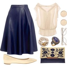 """Midnight/Nude"" by linda-olson on Polyvore"