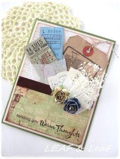 LEAFの「手作りカード」な暮らし。/ 手作りペーパーアイテムのお店「LEAF SHOP」-プレゼントみたいな手作りコラージュカード
