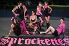 The Sprockettes! Portland's all-girl minibike drill team.