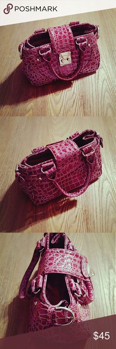 "Raspberry wine Mini purse Beautiful rich raspberry wine mini purse, like brand new condition, no scratch, no tear or stain. Size approximately L 10"" x W 5"" x H 6"". Bags Mini Bags"