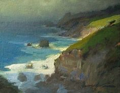 Northern Light-Mendocino Headlands by F. Michael Wood - Oil