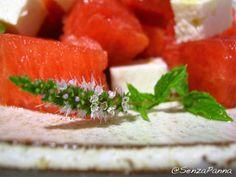 SenzaPanna: Anguria, menta, feta e champagne. La ricetta del lunedì.  http://www.senzapanna.it/2016/07/anguria-menta-e-feta-la-ricetta-del.html