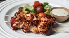 Bacon Ranch Chicken Skewers