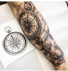coolTop Tattoo Trends - Perfect for me. - New Tattoo Trend Forarm Tattoos, 4 Tattoo, Map Tattoos, Anchor Tattoos, Body Art Tattoos, Inner Forearm Tattoo, Forearm Sleeve Tattoos, Tattoo Sleeve Designs, Tattoo Marin