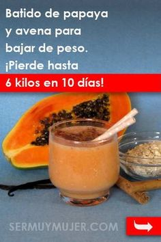Papaya and oatmeal smoothie - Papaya and oatmeal smoothie is very good for weight loss and is rich in vitamins and minerals - High Protein Smoothies, Protein Smoothie Recipes, Oatmeal Smoothies, Healthy Eating For Kids, Healthy Drinks, Healthy Recipes, Thai Tea Recipes, Pumpkin Tea, Halloween Food For Party
