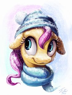 Snow Pony_Fluttershy by Tsitra360.deviantart.com on @DeviantArt