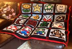 The Mario quilt design, finished.