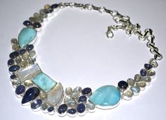 925 Sterling Silver Statement Necklace Choker 68 Grm by Gems036, $89.00