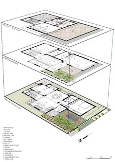 11 New tower House Plans Design Collection Narrow House Plans, Tree House Plans, Simple House Plans, Duplex House Plans, House Floor Plans, Architecture Plan, Residential Architecture, Security Architecture, Architecture Student